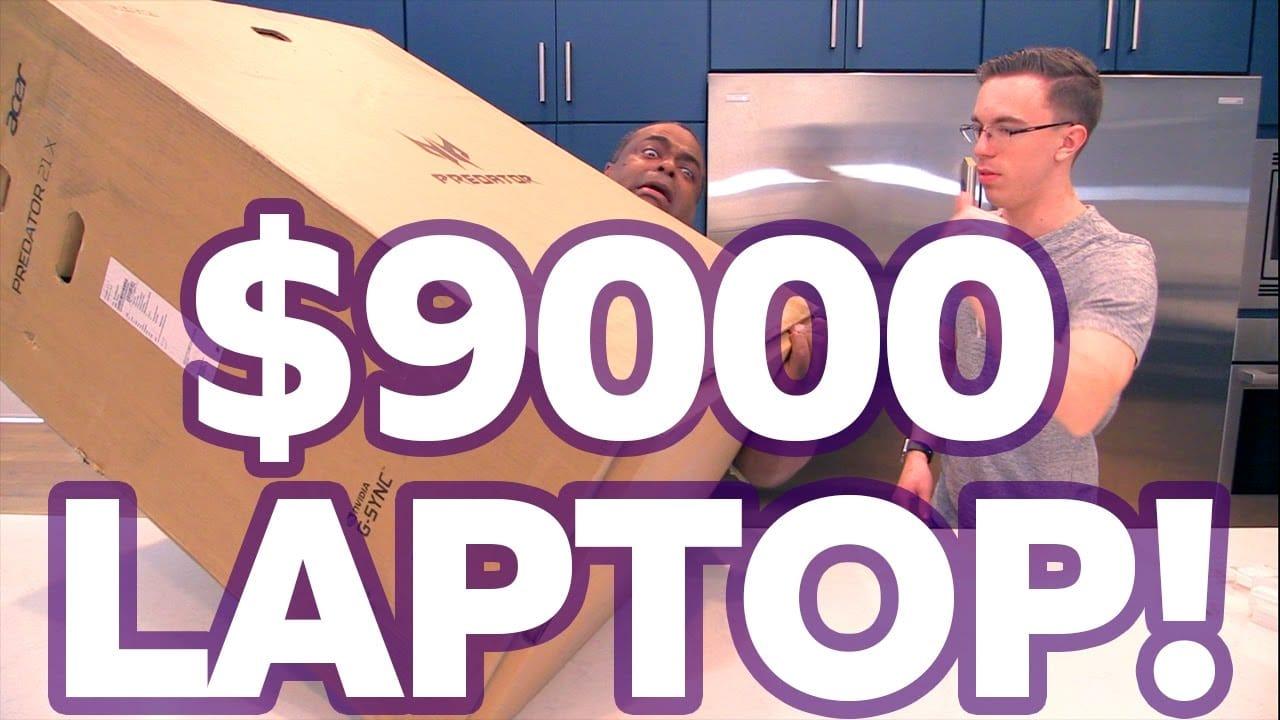 UNBOXING a $9000 LAPTOP!
