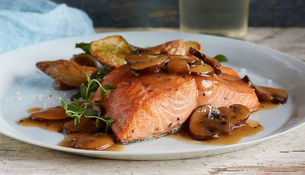 A fish dish your guests will love! Salmon Marsala