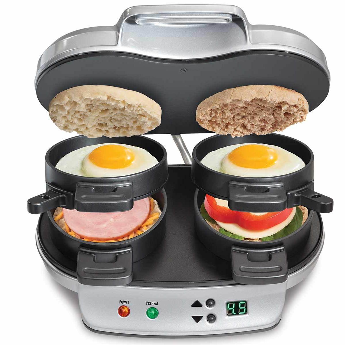 Hamilton Beach Dual Sandwich Maker: Men Can Cook!