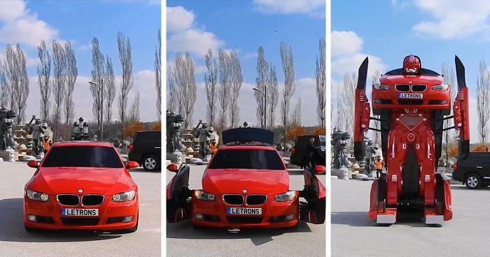 BMW Car into a Robotic Transformer