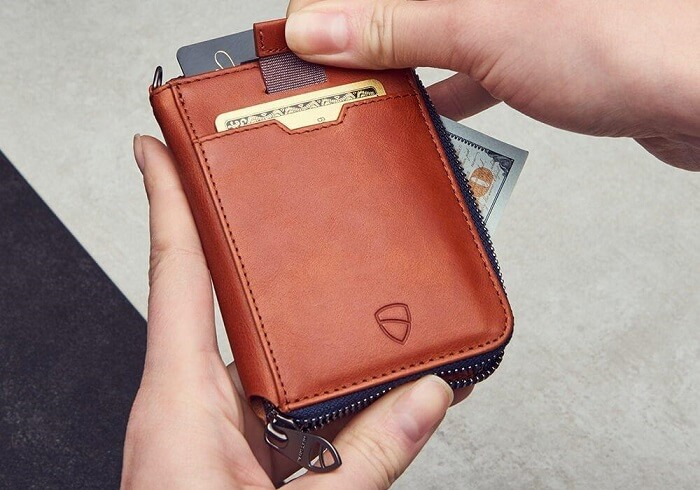 Vaultskin NOTTING HILL Slim Zipper Wallet for Men