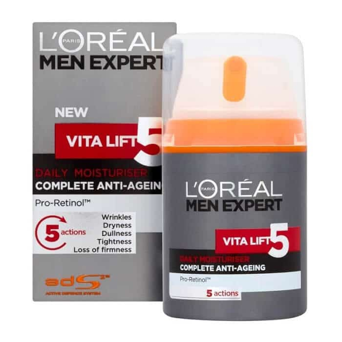 L'Oréal Paris Vita Lift Face Moisturizer for Men - Best Anti-Aging Products for Men