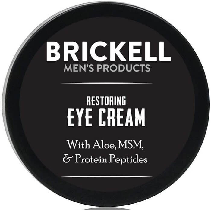 Brickell Men's Restoring Eye Cream for Men - Best Anti-Aging Products for Men