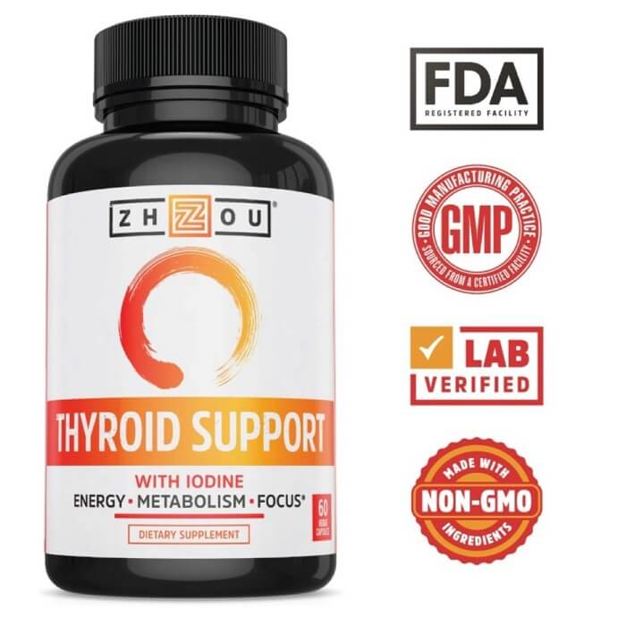 Zhou Thyroid Support Supplements for Energy and Focus