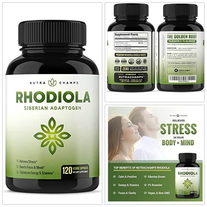 Nutra Champs Rhodiola Rosea Supplement