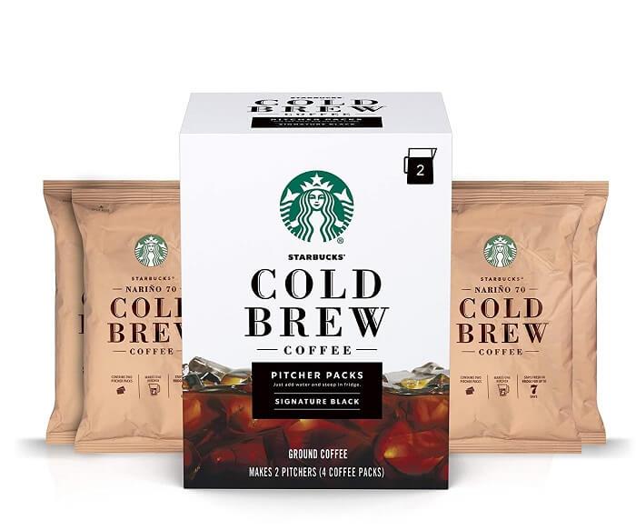 Starbucks Cold Brew Coffee Pitcher Packs - Signature Black